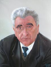 Портрет маслом для  дедушки на 9 мая!