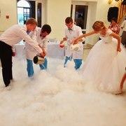 Удивительное свадебное азотное шоу
