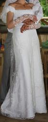 шикарное свадебное платье (из салона) в греческом стиле (ампир)